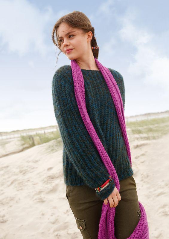 Muttertag Geschenk: Schal mit Patentmuster stricken