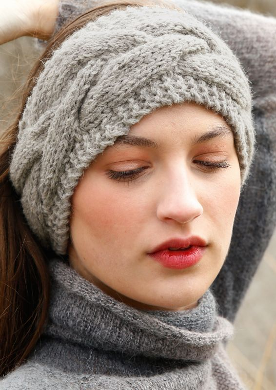 Stirnband Zopfmuster stricken