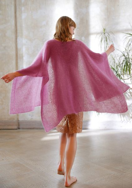 Mohair-Poncho