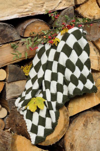 Decke - Stricken im Flechtmuster