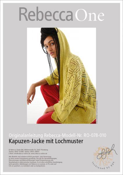 Anleitung - Kapuzen-Jacke mit Lochmuster