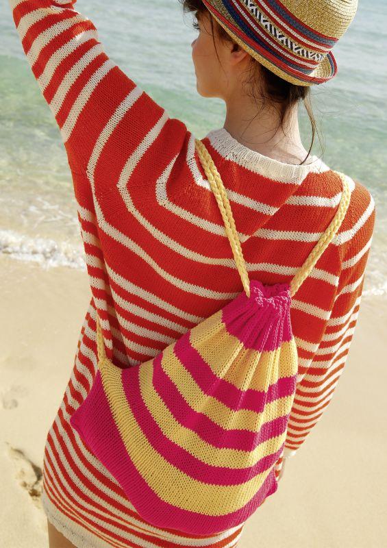 Strickanleitung und Strickset für Strickanfänger: Mini-Rucksack stricken