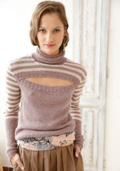 Pullover mit geteiltem Vorderteil