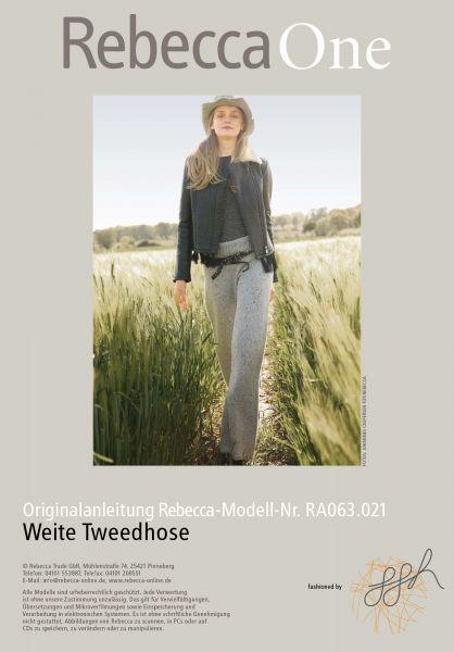 Weite Tweedhose