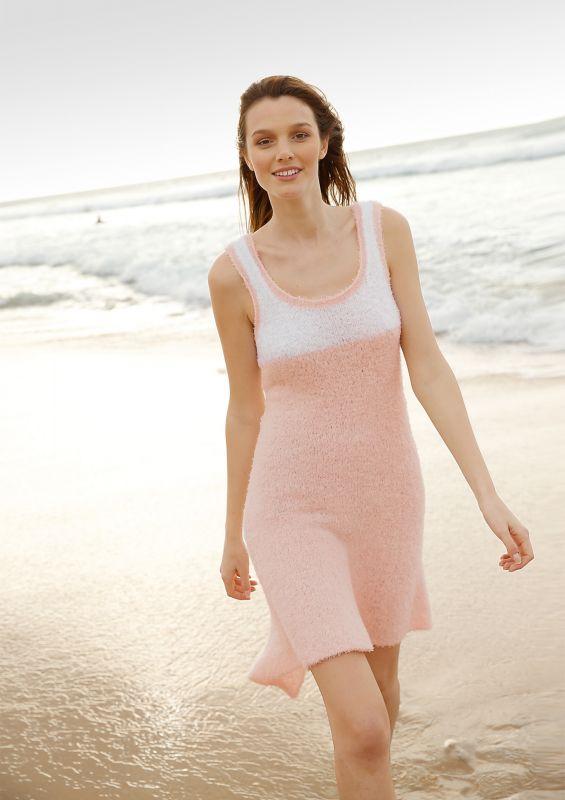 Frottee-Kleid Kleid stricken