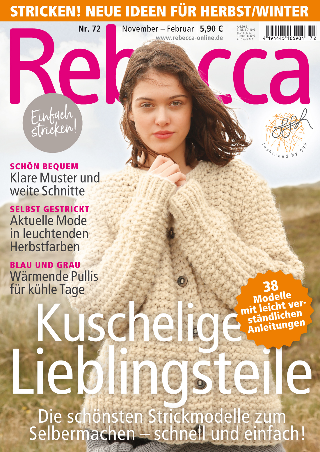 Rebecca Heft Nr. 72 | Zeitschriften | Strickhefte | Rebecca