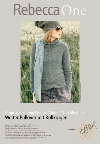 Weiter Pullover mit Rollkragen