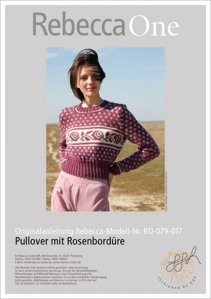 Anleitung - Pullover mit Rosenbordüre