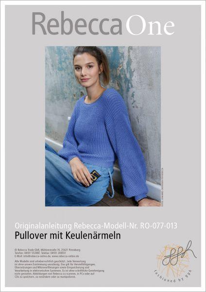 Strickanleitung - Pullover mit Keulenärmeln