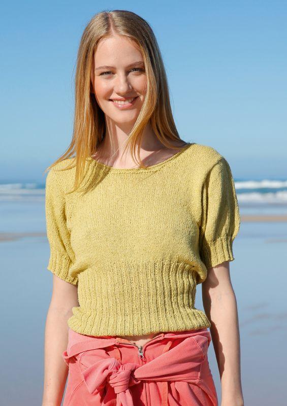 Strickanleitung Pullover aus recycelter Baumwolle