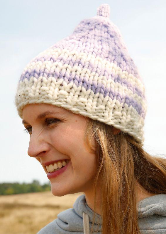 Mütze und Gelenkewärmer Strickset