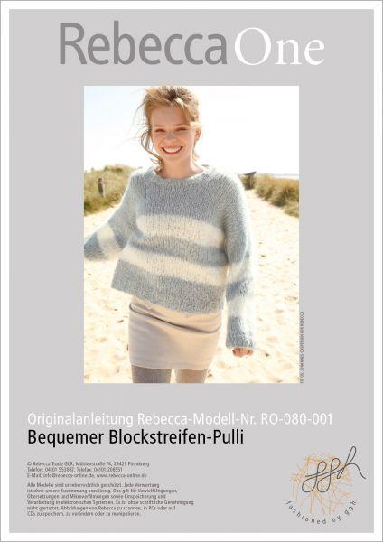 Anleitung - Bequemer Blockstreifen-Pulli