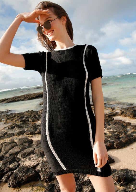 Schwarzes Kleid stricken