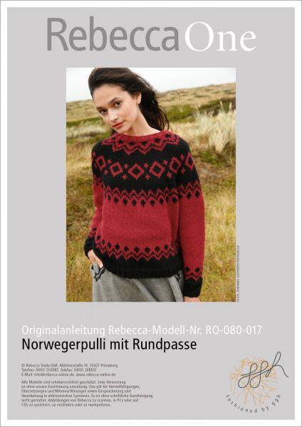 Anleitung - Norwegerpulli mit Rundpasse