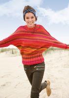 Melierter Fledermaus-Pullover