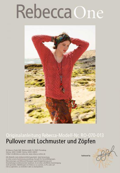 Strickmuster - Pullover mit Lochmuster und Zöpfen