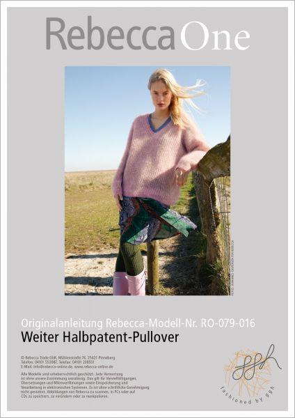 Anleitung - Weiter Halbpatent Pullover