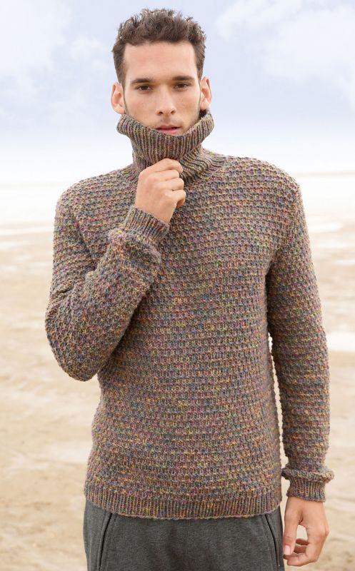Herren-Strickmode: Pullover mit Strukturmuster