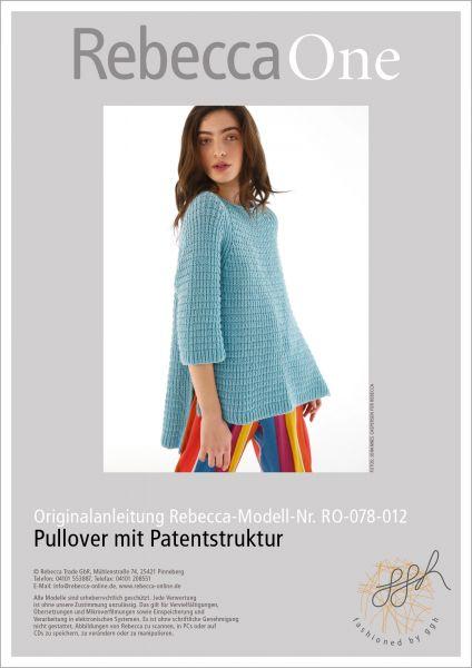 Anleitung - Pullover mit Patentstruktur