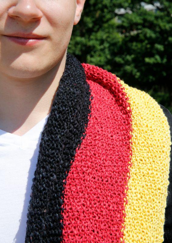 WM Fanschal stricken WM-Schal Deutschlandschal