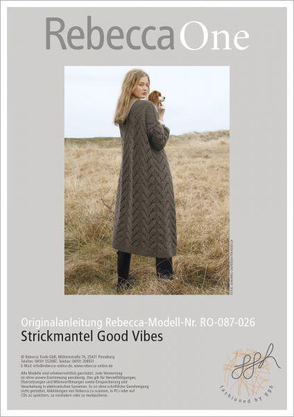 Anleitung - Strickmantel Good Vibes
