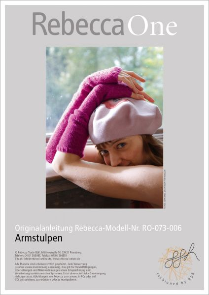 Strickanleitung - Armstulpen | Rebecca