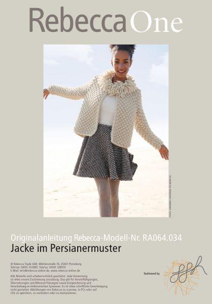 Jacke im Persianermuster
