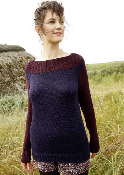 2-farbiger Pullover