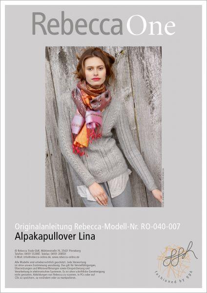 Strickanleitung - Alpakapullover Lina