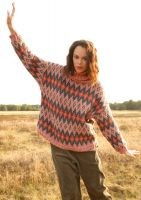 Weiter Jacquard-Pullover