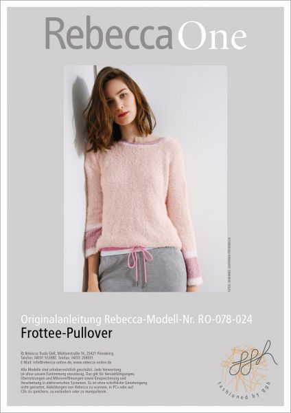 Anleitung - Frottee-Pullover