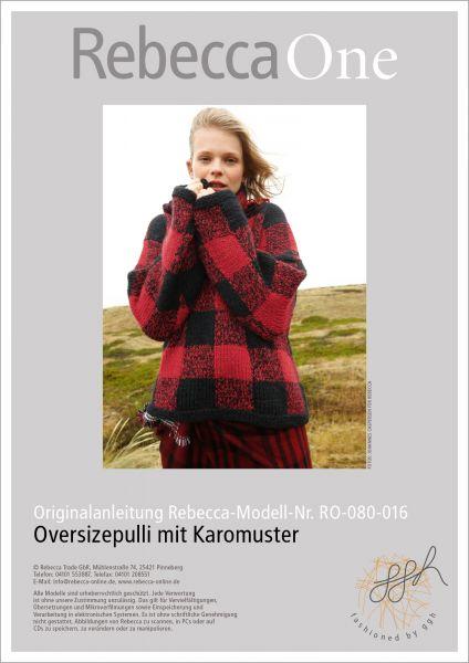 Anleitung - Oversizepulli mit Karomuster