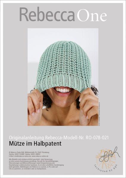 Anleitung - Mütze im Halbpatent