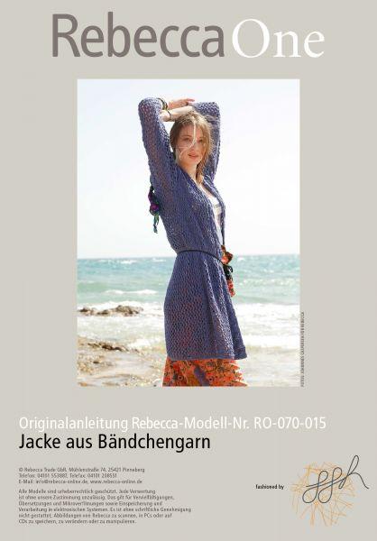 Strickmuster - Jacke aus Bändchengarn