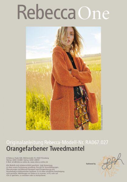 Orangefarbener Tweedmantel