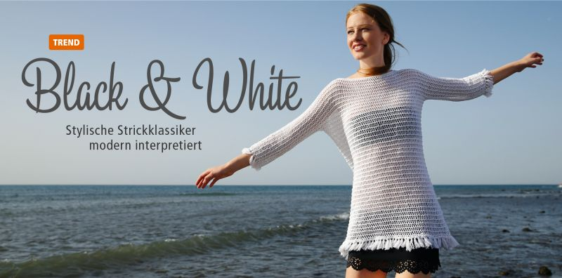 Themenwelt Black & White: Strickklassiker modern interpretiert