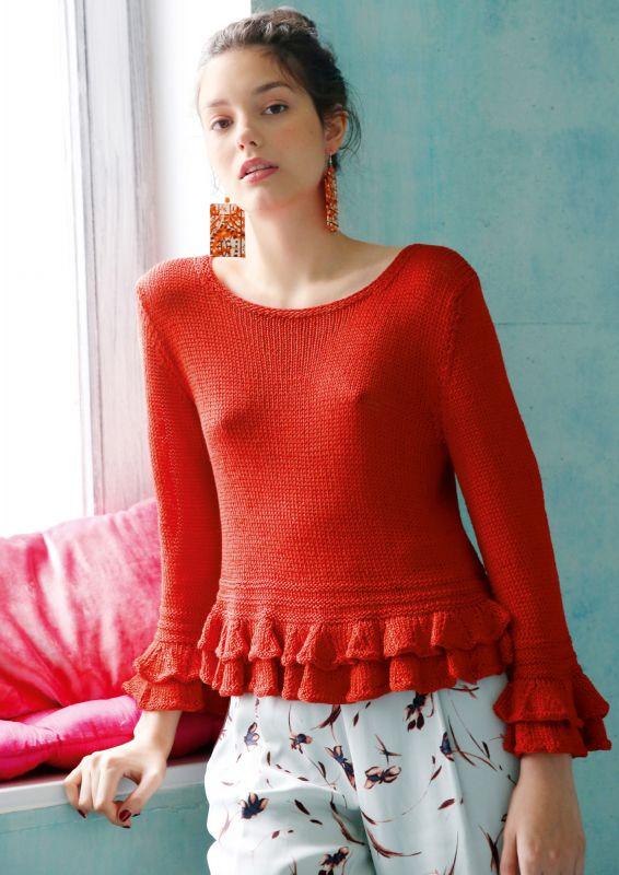 Pullover mit Rüschen stricken