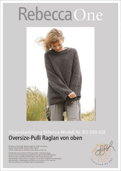 Anleitung - Oversize-Pulli Raglan von oben