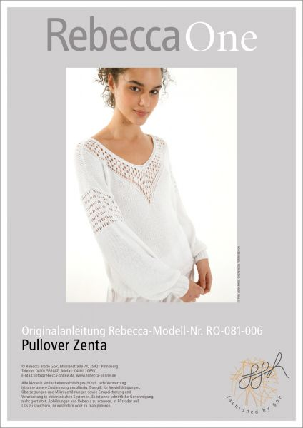 Anleitung - Pullover Zenta