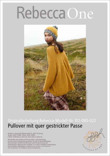 Anleitung - Pullover mit quer gestrickter Passe