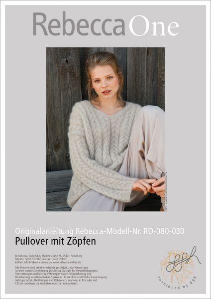 Anleitung - Pullover mit Zöpfen