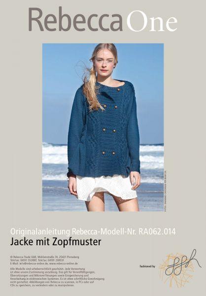 Strickmuster - Jacke mit Zopfmuster | Rebecca