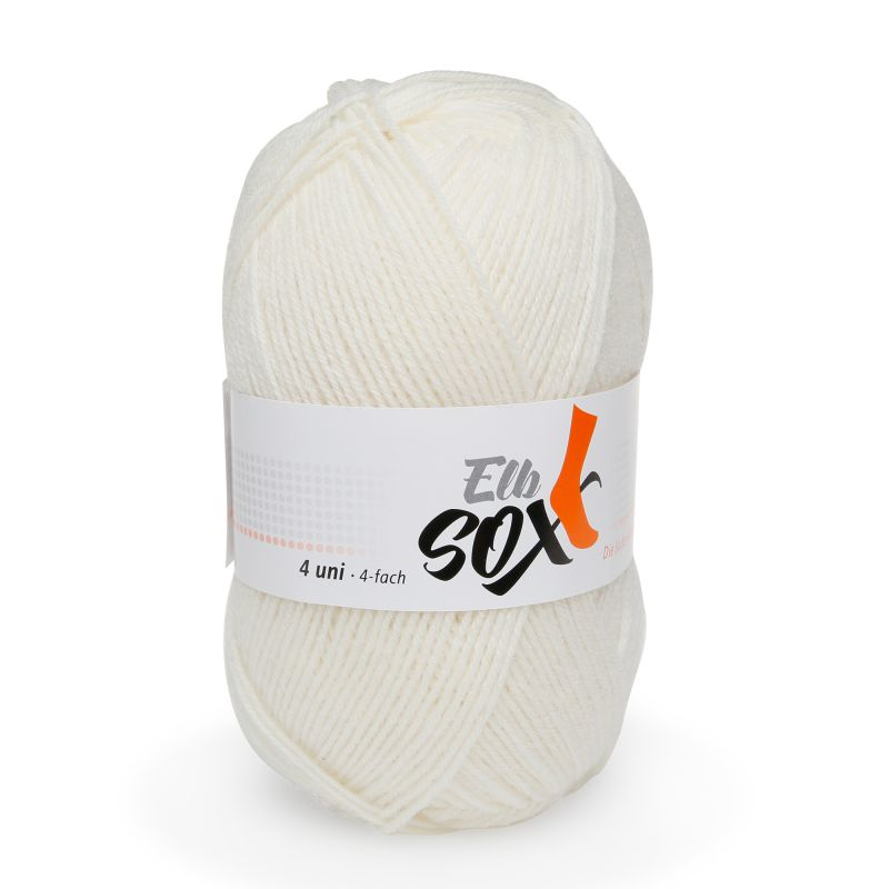 ElbSox 4fach Uni Sockenwolle Schurwolle