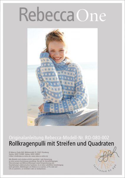 Anleitung - Rollkragenpulli mit Streifen