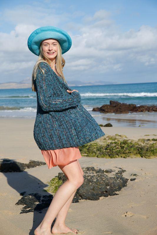 Sommertraum: Jacke aus Bändchengarn