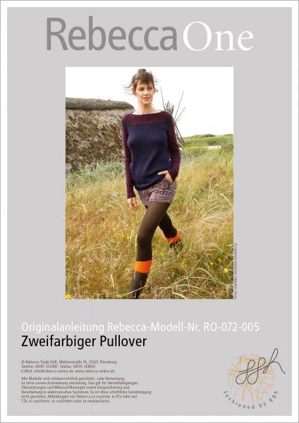 Strickanleitung - 2-farbiger Pullover