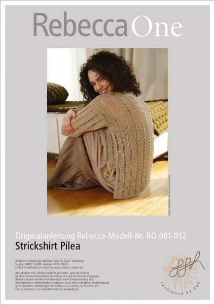 Anleitung - Strickshirt Pilea