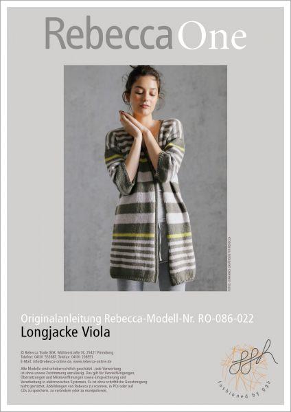 Strickanleitung - Longjacke Viola