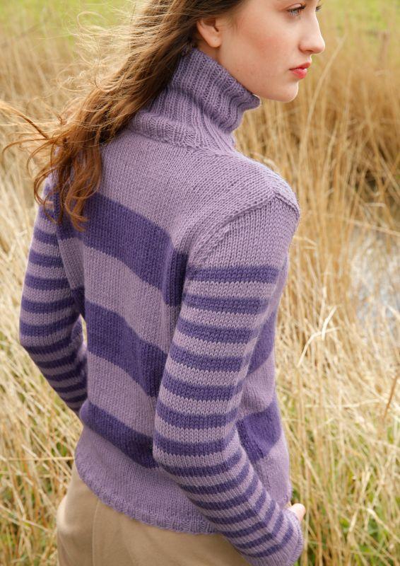 Blockstreifen Pullover stricken