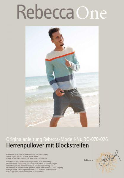 Strickmuster - Herrenpullover mit Blockstreifen